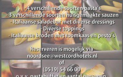 Pastaparty Westcord Hotel Noordsee